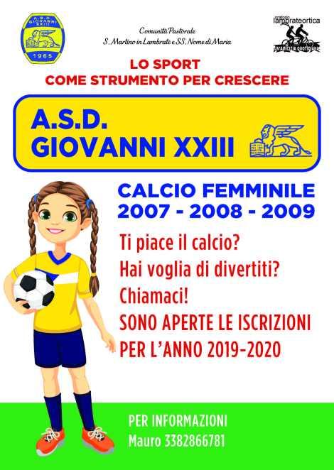 Volantino calcio femminile